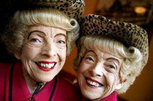 Vivian & Marian Brown, famous San Francisco Twin Sisters