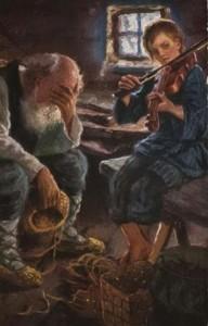 Николай Богданов-Бельский, Россия. Ну, по крайней мере, всегда есть пианино, 1898. Холст, масло. Источник: http://www.adme.ru/tvorchestvo-hudozhniki/sovremennye-podpisi-k-znamenitym-kartinam-665005/#image4725505 © AdMe.ru